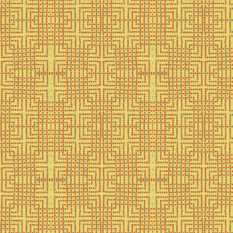 edo bead - yellow, taupe, orange fabric by materialsgirl on Spoonflower - custom fabric