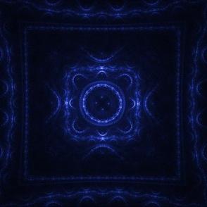 Square Fractal - Blue