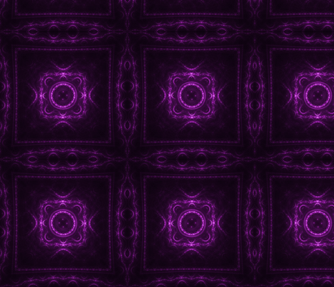 Square Fractal - Magenta fabric by serendipitymuse on Spoonflower - custom fabric