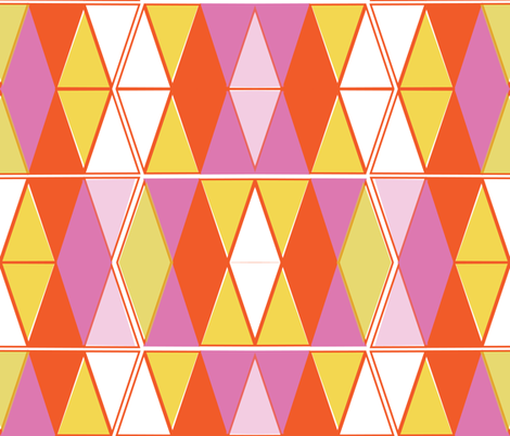 Mod Triangles fabric by fable_design on Spoonflower - custom fabric