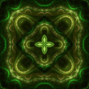 Square Fractal 2 - Green and Yellow