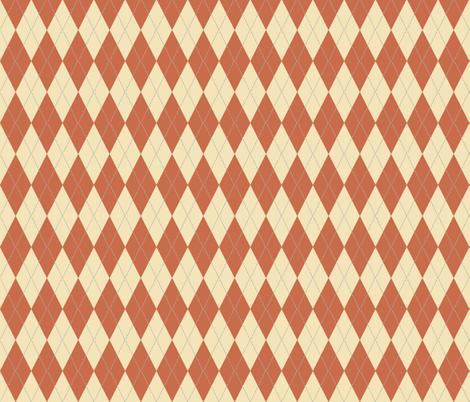 Argyle_Terra_Cotta fabric by lana_gordon_rast_ on Spoonflower - custom fabric