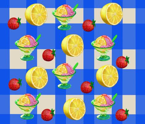 Summer Ice Cream on Table Cloth fabric by graphicglee on Spoonflower - custom fabric