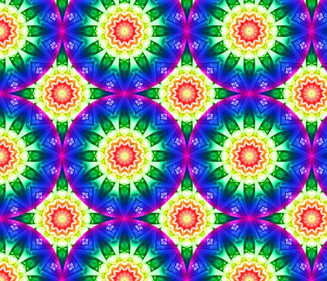 Kaleidoscope 10 - Rainbow Warrior fabric by serendipitymuse on Spoonflower - custom fabric