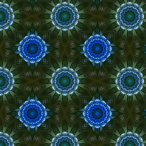 Kaleidoscope 12 - Mojo in Green and Blue