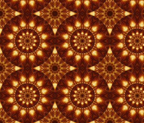 Kaleidoscope 14 - Luminous Beings Are We fabric by serendipitymuse on Spoonflower - custom fabric