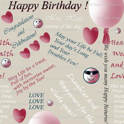 Birthday Gift Wrap by Sylvie