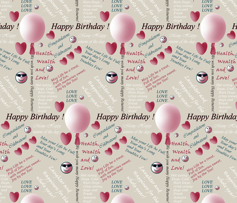 Birthday in Silver by Sylvie fabric by house_of_heasman on Spoonflower - custom fabric