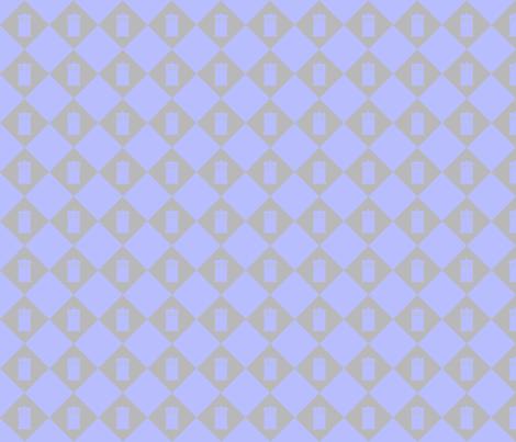 Harlequin Blue Box_gray_lg fabric by morrigoon on Spoonflower - custom fabric