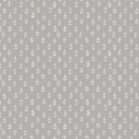 Gray Anchors fabric by gsonge on Spoonflower - custom fabric