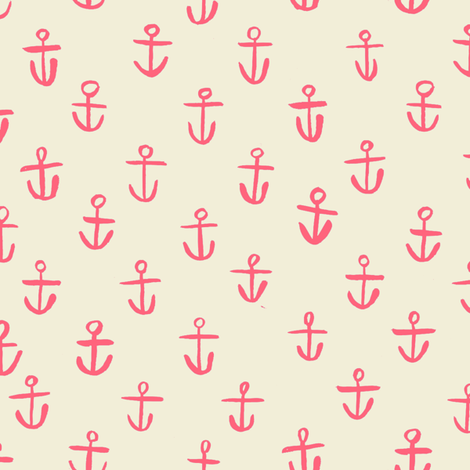 PINK_ANCHORS fabric by gsonge on Spoonflower - custom fabric