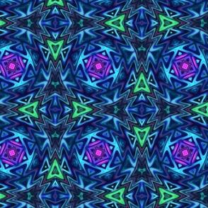 Aztec Kaleidoscope Blue