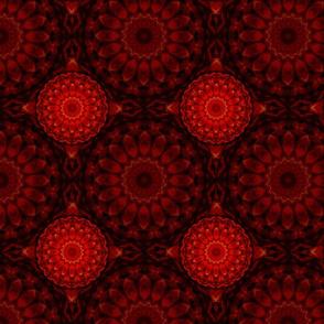 Kaleidoscope 19 - Dark Red Medallions