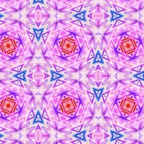 Aztec Kaleidoscope Light Pink