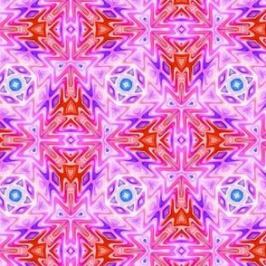 Aztec Kaleidoscope Light Pink 2