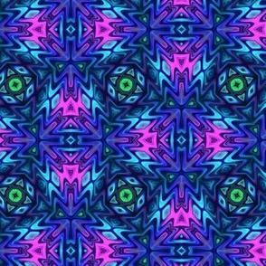 Aztec Kaleidoscope Blue 2