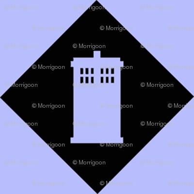 Harlequin Blue Box black n lt blu
