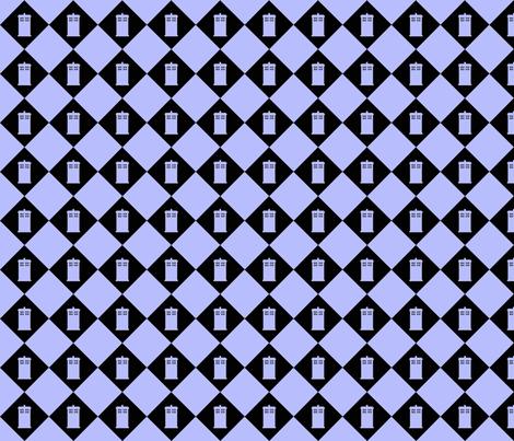 Harlequin Blue Box black n lt blu fabric by morrigoon on Spoonflower - custom fabric