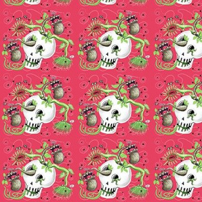 Skull Cachepot w/ Scary Carnivorous Plants!(#2)