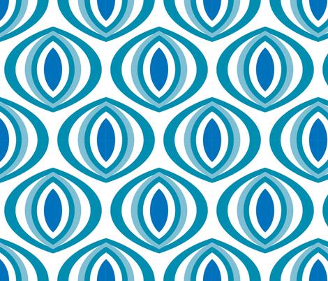 Ole Blue Eyes fabric by pixeldust on Spoonflower - custom fabric