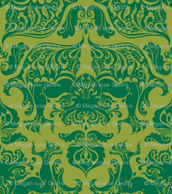 I Love Craft (Cthulhu Damask)