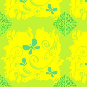 Butterfly1-yellow/green