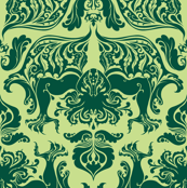 I Love Craft (Cthulhu Damask) Light Green