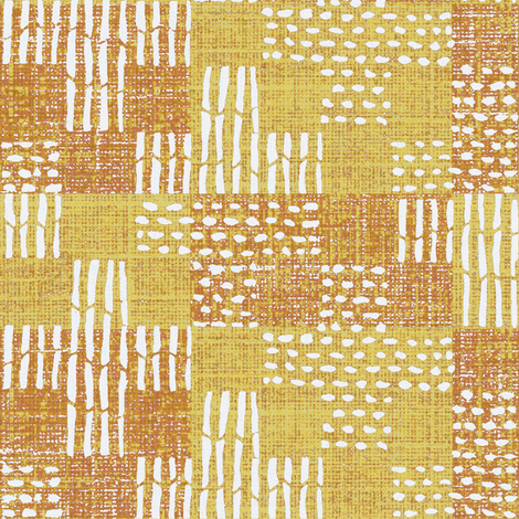 Sticks & stones - orange, yellow, pink, white fabric by materialsgirl on Spoonflower - custom fabric