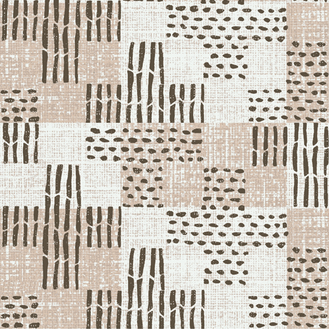 Sticks & Stones - pink, charcoal, white fabric by materialsgirl on Spoonflower - custom fabric