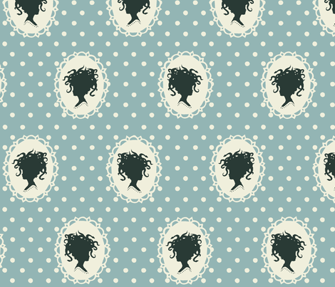 medusa silhouette fabric by mezzime on Spoonflower - custom fabric