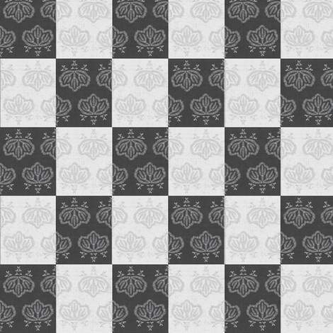 Kiri Check - black, white, grey fabric by materialsgirl on Spoonflower - custom fabric