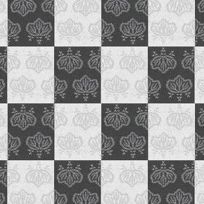 Kiri Check - black, white, grey