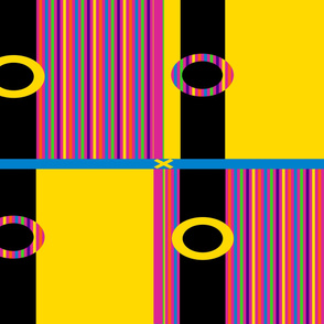 Blocks of Color in Yellow and Rainbow
