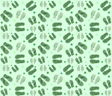 MINT GREEN THONGS fabric by bluevelvet on Spoonflower - custom fabric