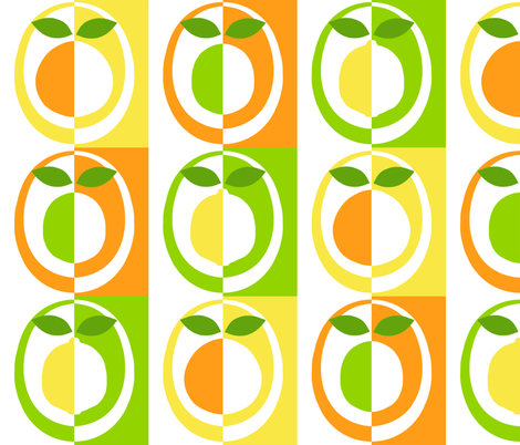 mod_citrus fabric by victorialasher on Spoonflower - custom fabric