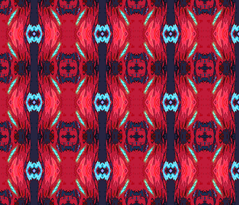 Rooster_abstract fabric by mammajamma on Spoonflower - custom fabric