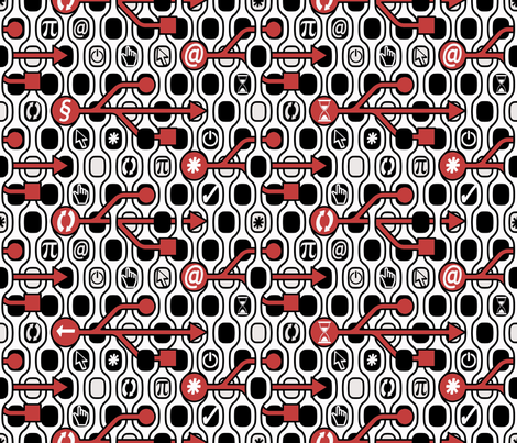 Geek Chic Spirit White fabric by chicca_besso on Spoonflower - custom fabric
