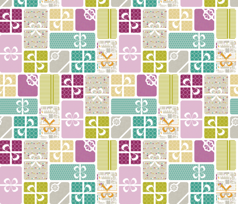 Party Animals Collection - Presents fabric by ttoz on Spoonflower - custom fabric