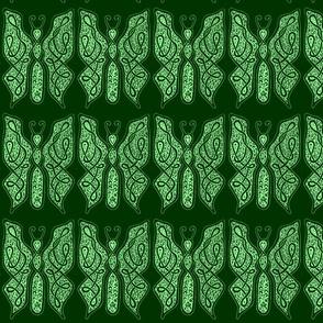 ButterflyDancer - Lg - deep fir & mint green reverse