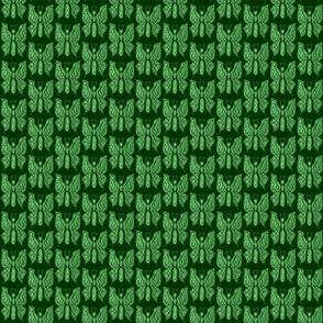 ButterflyDancer - sm - deep fir & mint green reverse