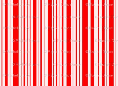 ButterflyFlutterby stripe - true red & fair pink