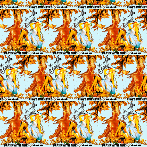 Plays with fire fabric by whimzwhirled on Spoonflower - custom fabric