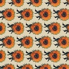 Sunflowers on Cream   Van Gogh by BohoBear