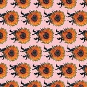 Sunflowers on Pink   Van Gogh by BohoBear