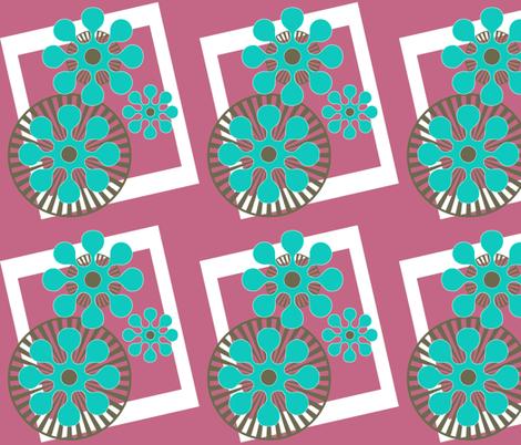Post-Modernist Flower Power fabric by mammajamma on Spoonflower - custom fabric