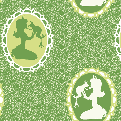 The princess and the frog fabric by mezzime on Spoonflower - custom fabric