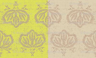 Kiri Check - lemon & beige