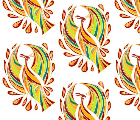 phoenix1 fabric by 11elevenxo on Spoonflower - custom fabric