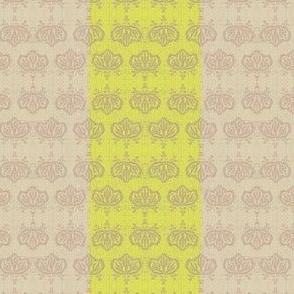 Kiri broad stripe - lemon and beige