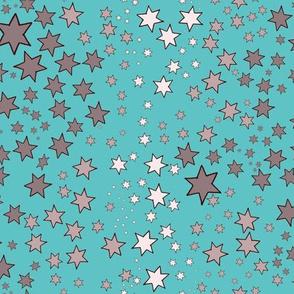 Mucha's Stars turquoise